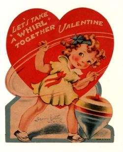 Shirley Temple Vintage Valentine from 1944