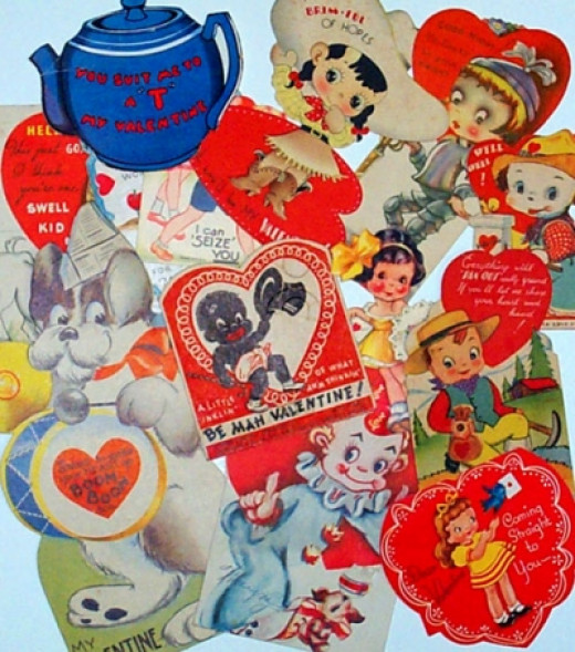 My Vintage Valentines from the 30's and 40's