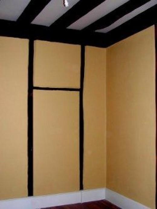 Plain yellow walls