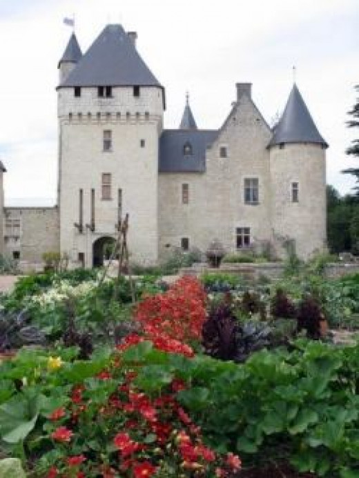 The Château of Rivau from the vegetable garden