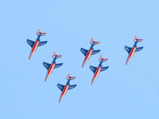 French aerobatic display