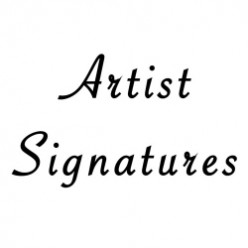 How to sign a painting, drawing or fine art print
