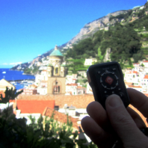 Using our Homestar in Amalfi, Italy