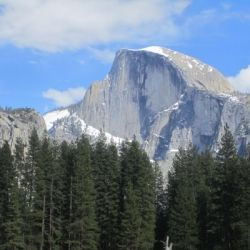 Camping Near Yosemite National Park (View of Half Dome)