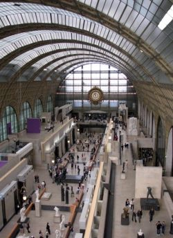 View of the ground floor of the Musee d'Orsay