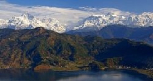A view from Pokhara, Nepal