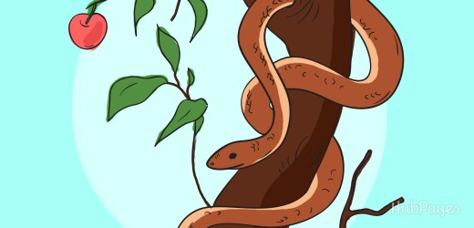 The serpent in the Garden of Eden convinced Adam and Eve to eat from the Tree of Knowledge.