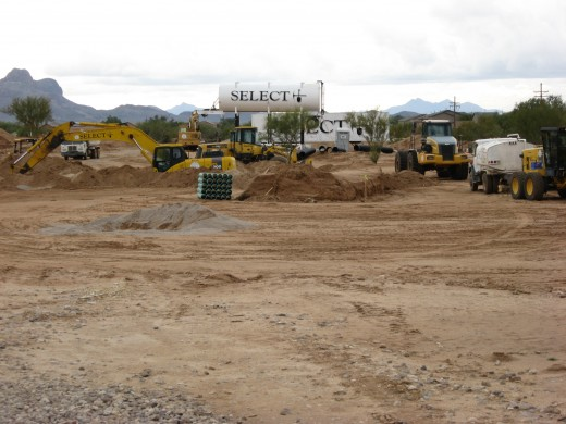 Preparing ground for a new subdivision.