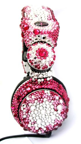 Cute Swarovski Crystal Headphones