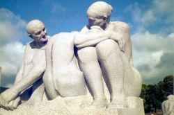 Granite sculpture from Vigeland's Parken