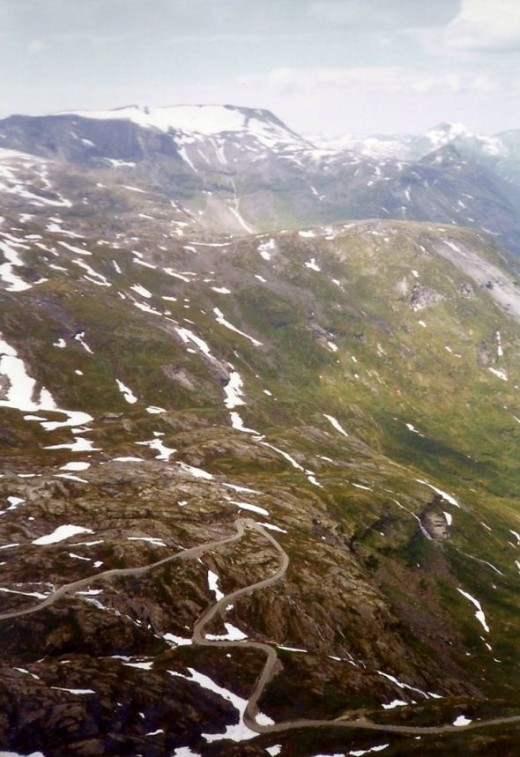 The road to Geiranger.  More switchbacks.