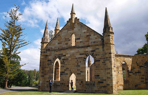 The convict built church, the roof of which was destroyed in a fire in the 1890s. Photo by Sarah Quine