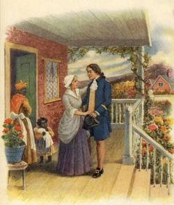 George Washington With Mother
