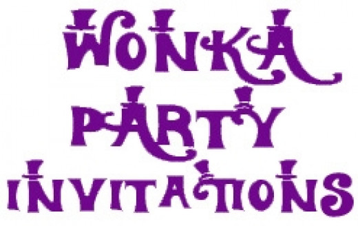 Wonka Birthday Invitations