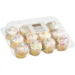 mini cupcakes from grocery store