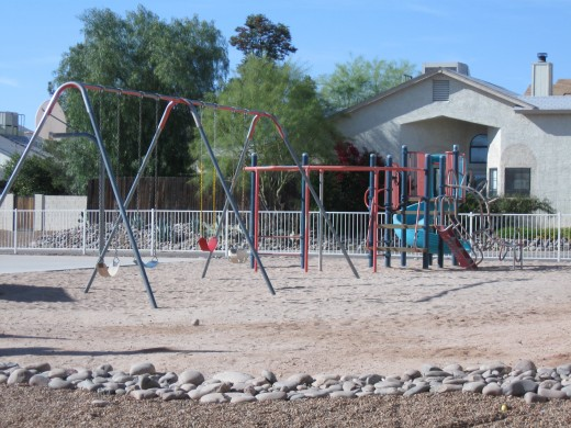 Playgrounds are often found in condominium developments.