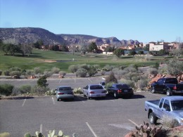 Golf course at a timeshare condominium in Sedona, Arizona.