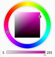 Colour Wheel and Saturation Slider