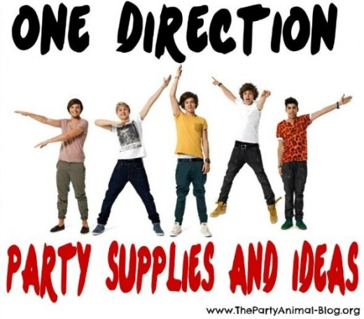 one direction party supplies and ideas