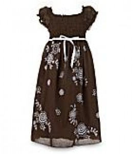 Xtraordinary Embroidered Peasant Dress. Available at Dillard's Sizes 7-16. $30.  photo credit, Dillard's