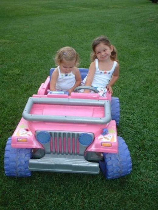 My Daughter and Niece in her Jeep