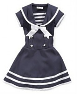 Bonnie Jean Little Girl Sailor Dress. Available at Macy's. Sizes 2-6x. Regular $50. Now on Sale for $30. photo credit, Macy's