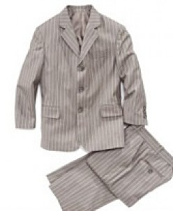 Calvin Klein Boys Double Stripe Suit. Available at Macy's. Sizes 8-20(XL). $108.75. photo credit, Macy's
