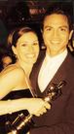 Julia with Benjamin Bratt