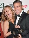 Julia with George Clooney