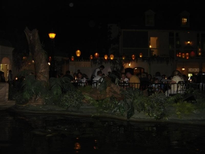 View of the restaurant from the Pirates Of The Caribbean  ride