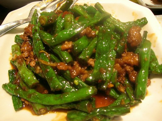 Green beans with pork and sweet spicy sauce. (Photo courtesy by paragon from Flickr)