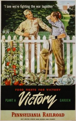 everyone was encouraged to grow their own food for the war effort