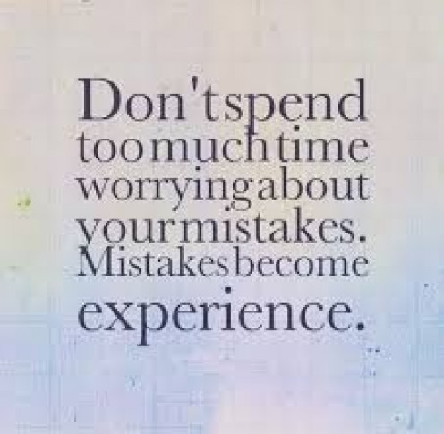 The most accomplished people make mistakes.