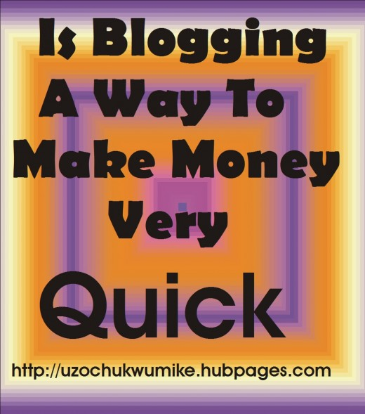 Making money through blogging. Explanation on how blogging works. Blogging is long term investment
