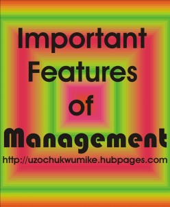 Important Features of Management
