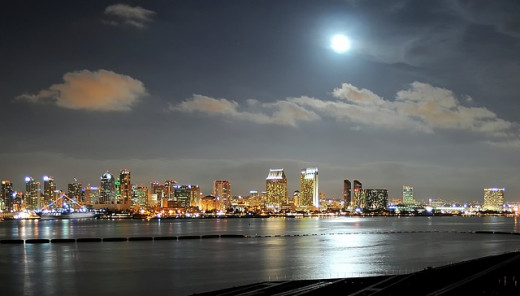 San Diego in the evening