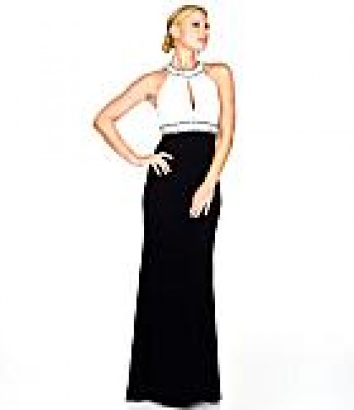 7. J.S. Boutique Beaded Gown. $200. Available at Dillard's. photo credit, Dillard's