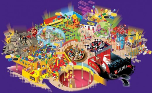 Legoland Discovery Center map