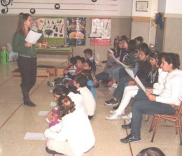 In the music room