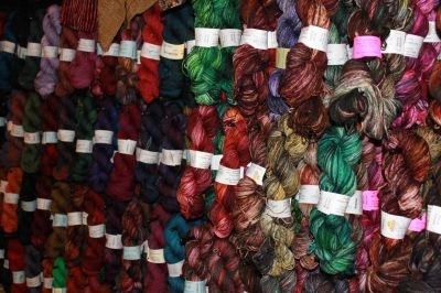 Skeins of Yarn in Every Color