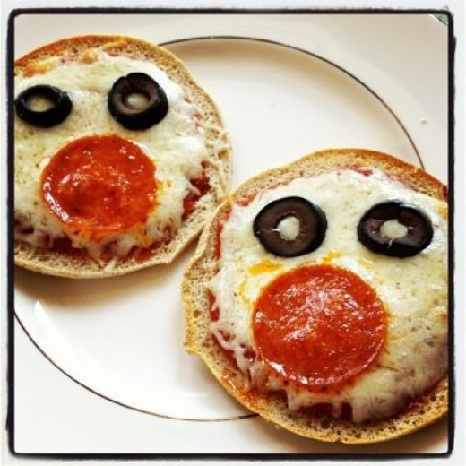 Homemade pizzas are a great way to sneak some veggies into little tummies.