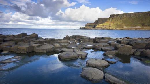 Ulster coastline, tough, uncompromising - like its mythology
