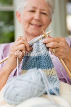 babies in need - grandma knitting