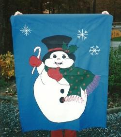 flags for fun - snowman