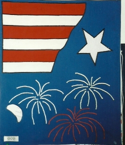 Flags for fun - July 4 mailbox cover