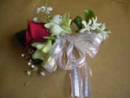 Inexpensive Flowers - Red Rose Corsage