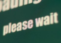 Please Wait - Waiting sign