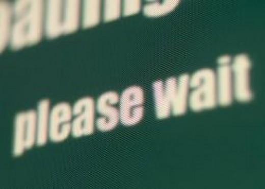 Please Wait - Waiting sign