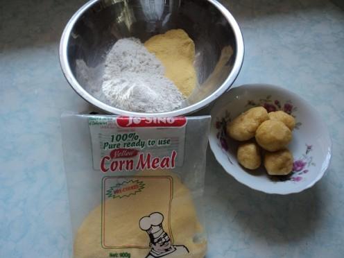 Dumpling ingredients and Rolled Dumplings.
