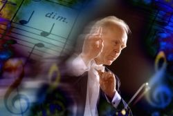 classical music - conducting classical music - music sheet